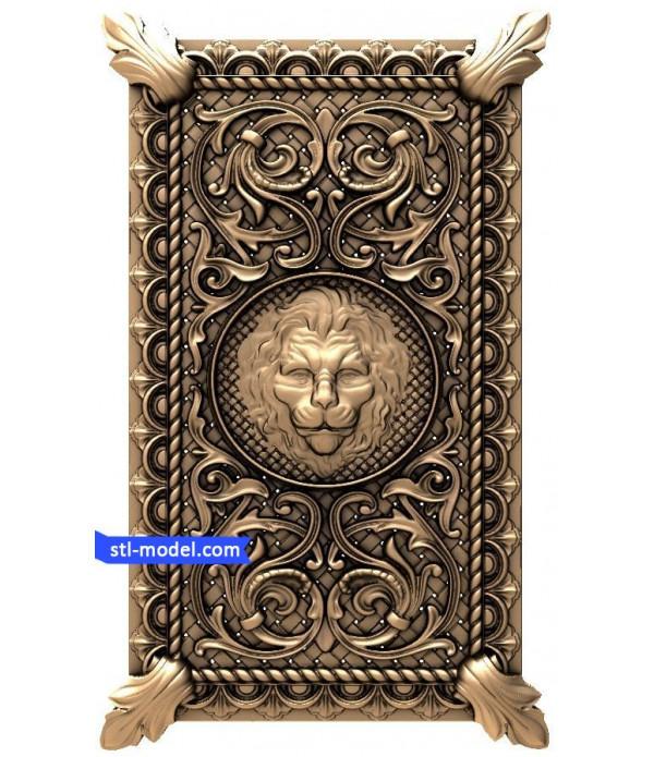 "Backgammon ""lion"" | STL - 3D model for CNC"