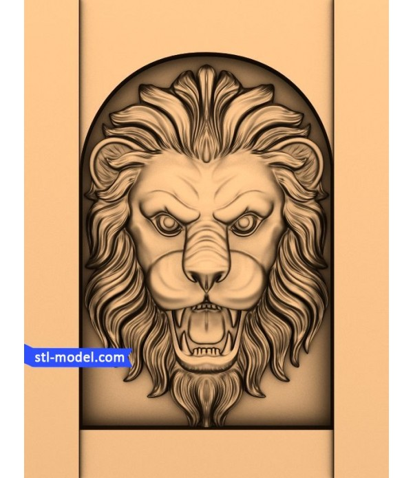 "Character ""lion Head #2"" | STL - 3D model for CNC"