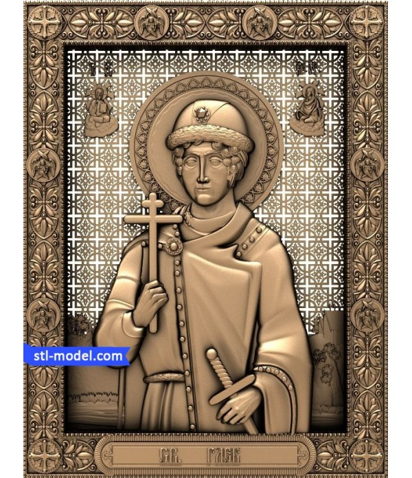 "Icon ""St. Gleb Vladimirovich (Prince of Murom)"" 