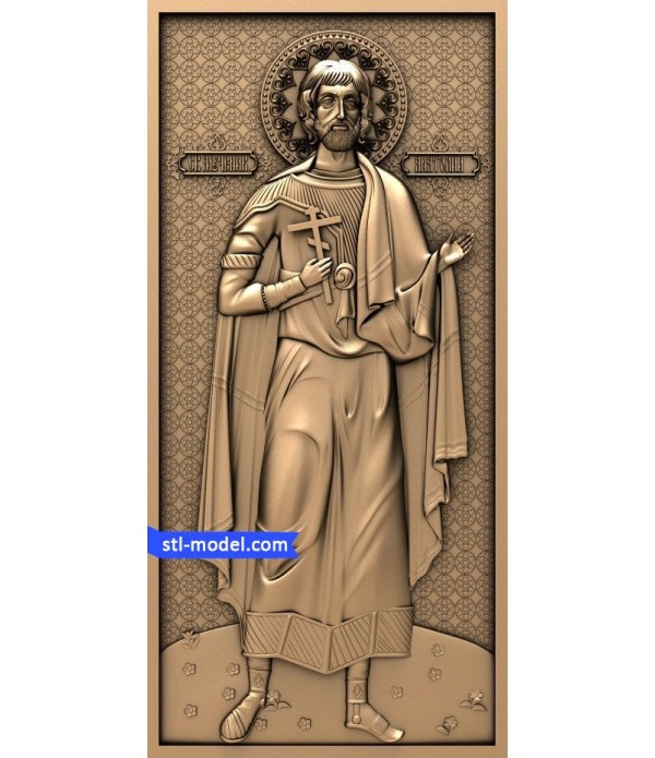 """Icon """"St. Anatoly""""   STL - 3D model for CNC"""