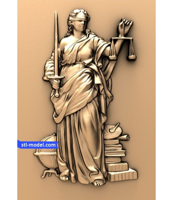 """Bas-relief """"Goddess of justice - Themis"""" 
