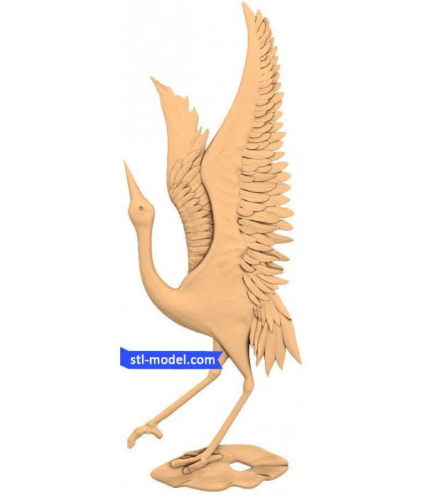 "Character ""Bird"" | STL - 3D model for CNC machine"