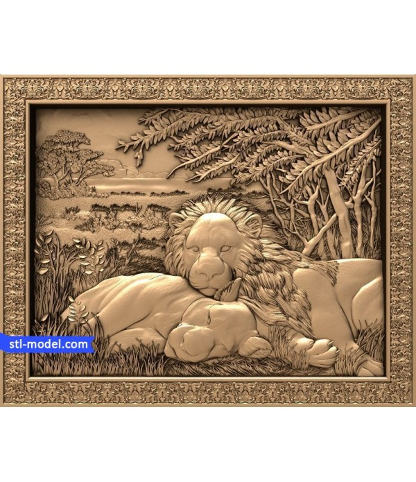 "Bas-relief ""Lions at rest"" 