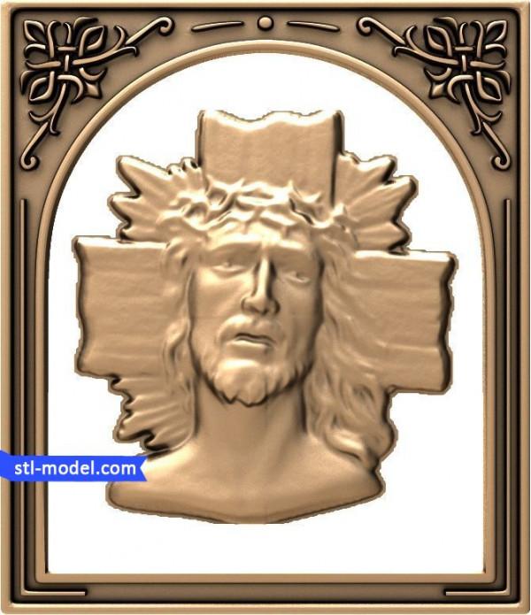 "Icon ""Jesus #3"" | stl - 3d model for CNC"