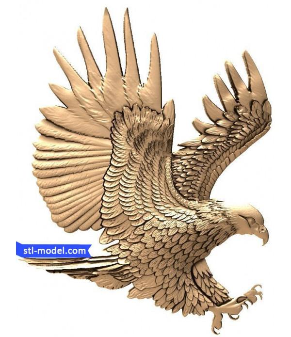 "Bas-relief ""eagle"" | STL - 3D model for CNC"