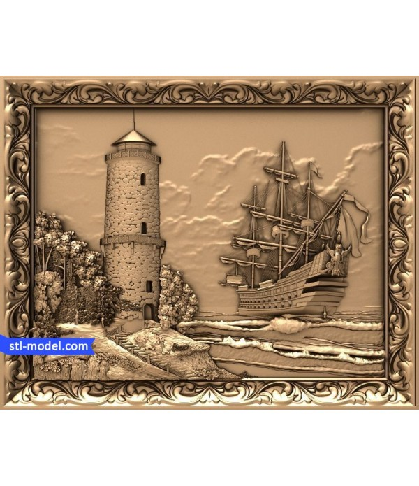 """Bas-relief """"lighthouse"""" 