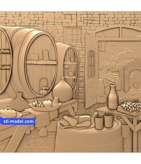 """Bas-relief """"In the room"""" 
