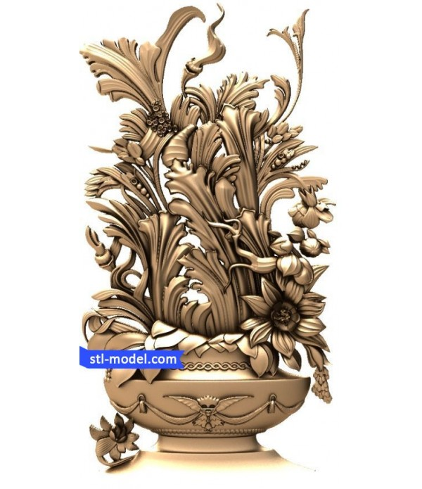 "Flowers ""Flowers #3"" | STL - 3D model for CNC"