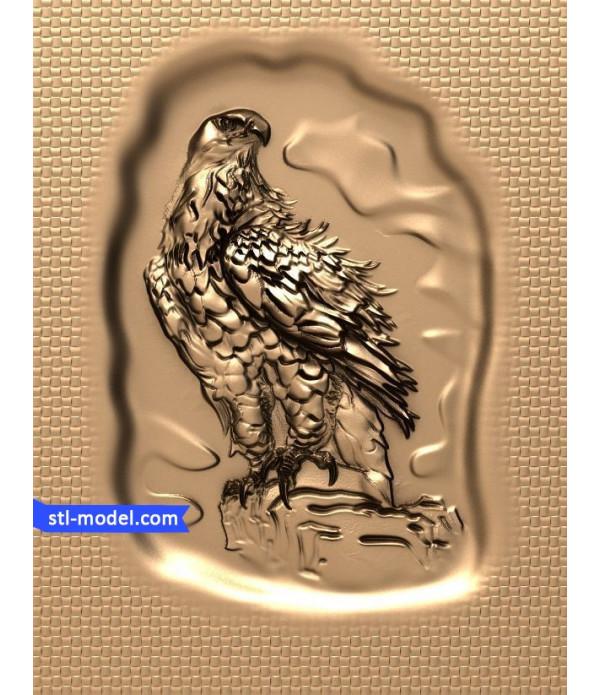 "Bas-relief ""Eagle #2"" | STL - 3D model for CNC"