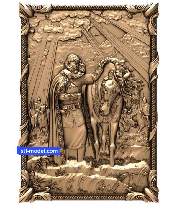 "Bas-relief ""Vasiliev. Prophetic Oleg"" | STL - 3D model for CNC"