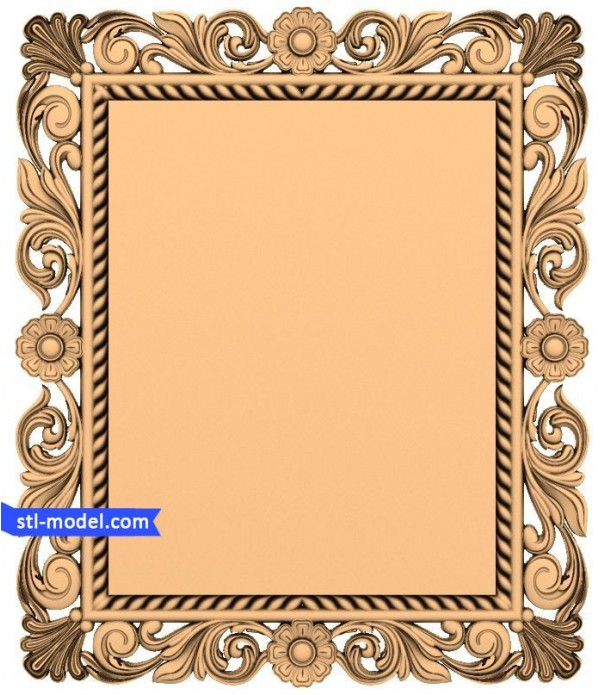"Frame ""Frame #61"" | STL - 3D model for CNC"