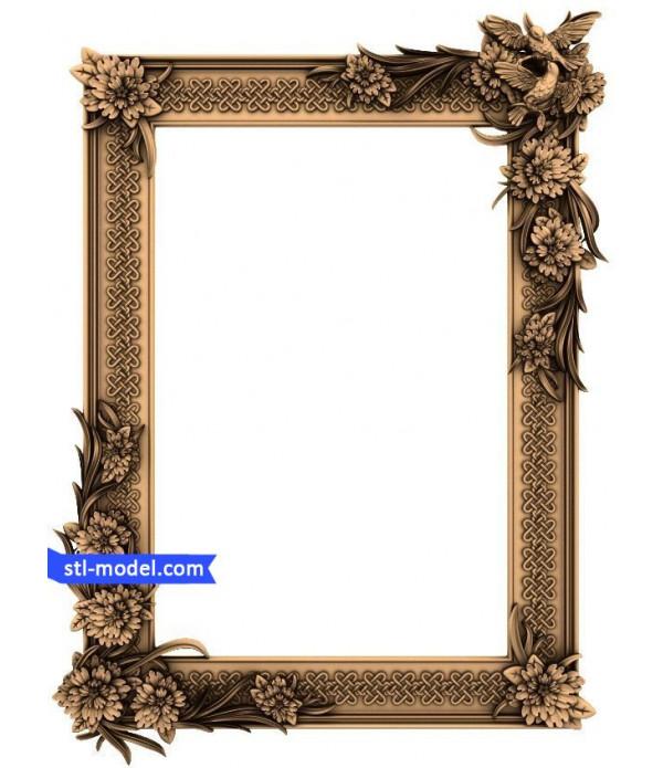 "Frame ""Frame #154"" | STL - 3D model for CNC"