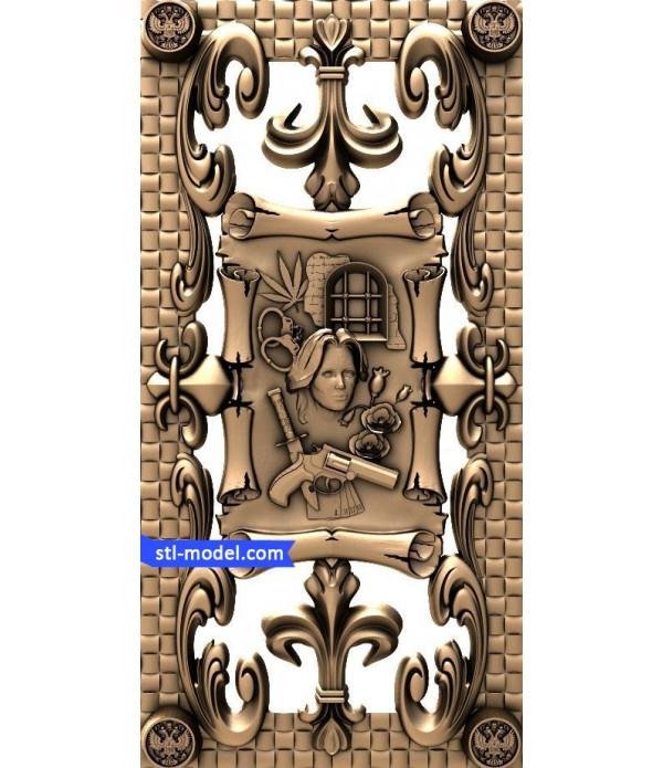 "Backgammon ""Backgammon #4"" | STL - 3D model for CNC"