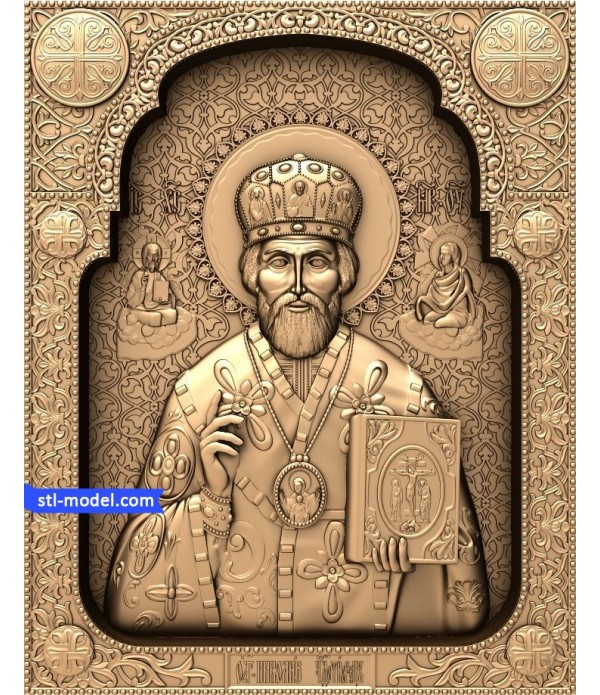 "Icon ""Nicholas the Wonderworker #3"" 