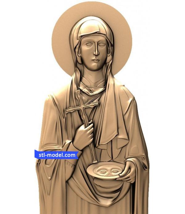 "Icon ""Holy Martyr Paraskeva""   STL - 3D model for CNC"