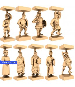 "Chess set ""Mongols"" 