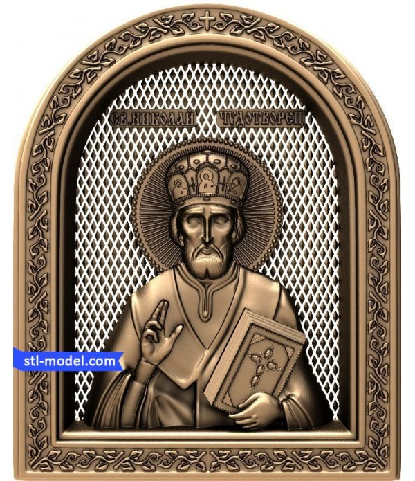 """Icon """"Nicholas the miracle-worker #4"""" 