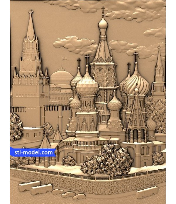 "Bas-relief ""St. Basil's Cathedral"" 