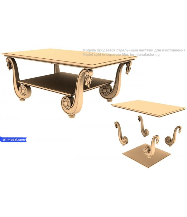 3D Furniture model Table 9 stl file for CNC Routers