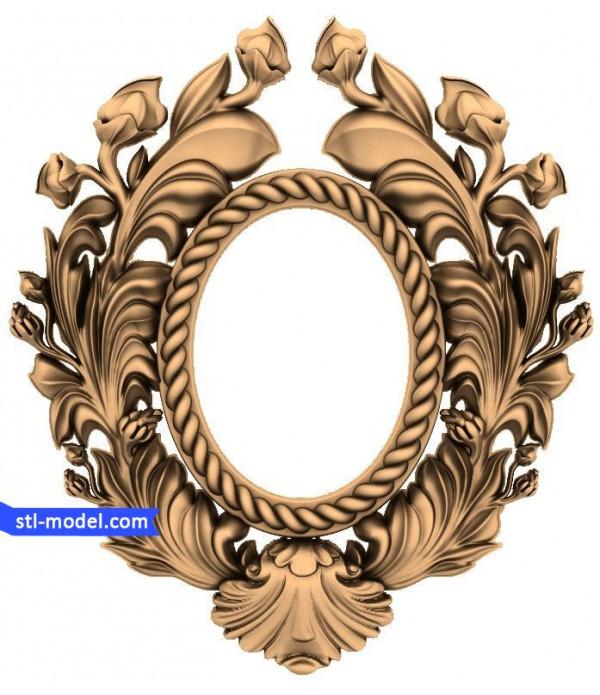 "Frame ""Frame #122"" | STL - 3D model for CNC"