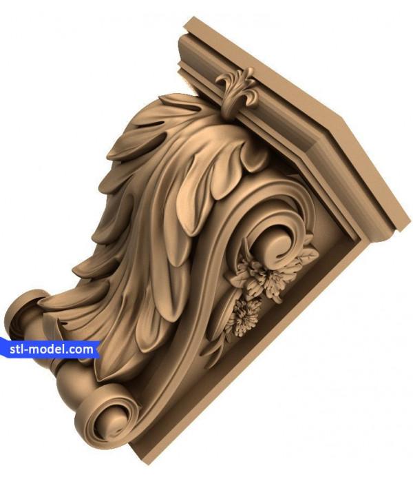 "Corbel ""Corbel #81""   STL - 3D model for CNC"
