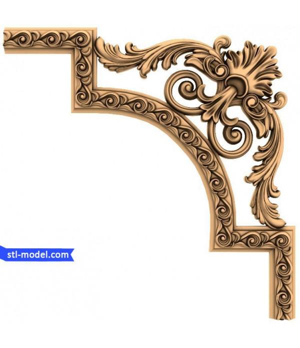 "Corner decor ""Corner decor #7"" | STL - 3D model for CNC"