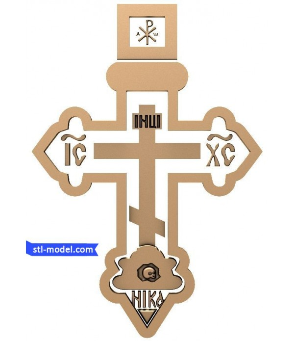 "Cross ""Cross #3"" | STL - 3D model for CNC"