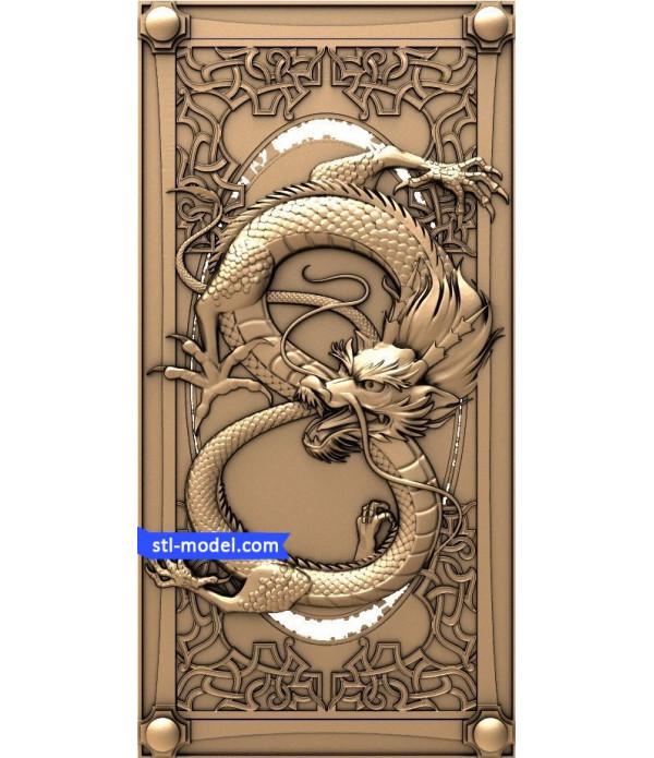 "Backgammon ""Dragon #3""   STL - 3D model for CNC"