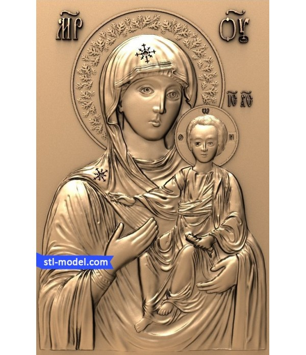 """Icon """"Protectress of mount Athos"""" 
