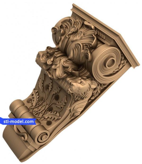 "Corbel ""Corbel #84"" | STL - 3D model for CNC"