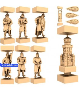 "Chess set ""Crusaders"" 