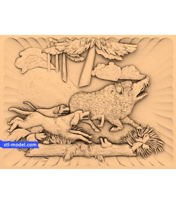 "Bas-relief ""Bas-relief #14"" | STL - 3D model for CNC"