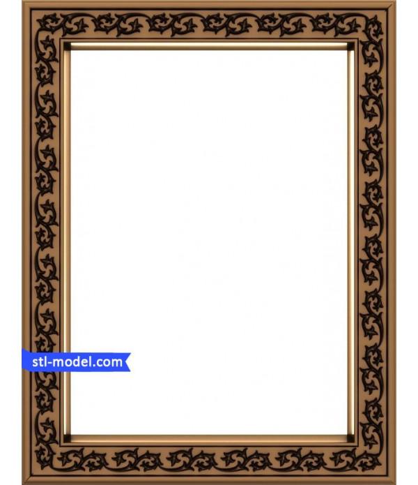 "Frame ""Frame #114"" | STL - 3D model for CNC"