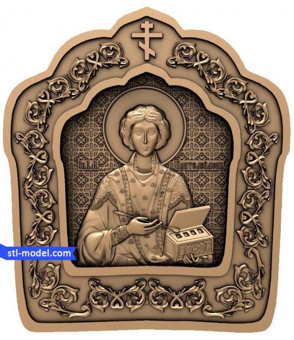 "Icon ""Saint Panteleimon #2"" | STL - 3D model for CNC"