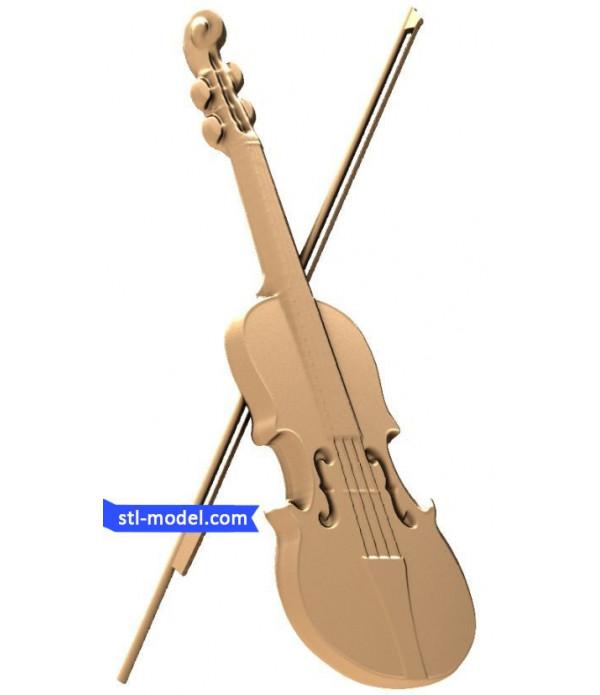 "Bas-relief ""Violin"" | STL - 3D model for CNC"