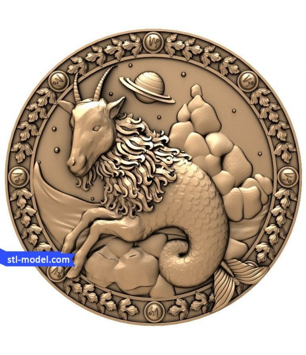 "Zodiac ""Capricorn"" | STL - 3D model for CNC"
