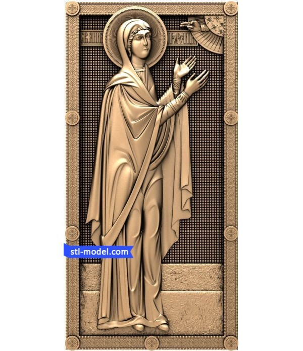 "Icon ""Svyataya Anna the Prophetess"" | STL - 3D model for CNC"