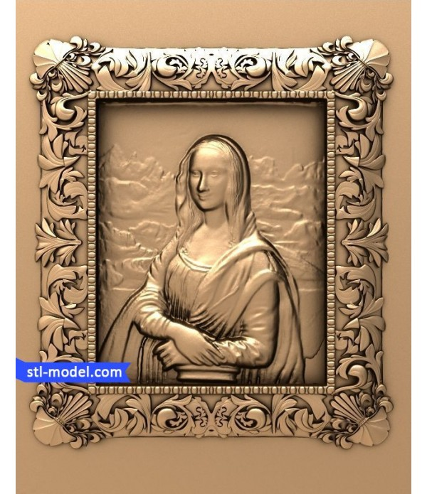 "Bas-relief ""Monalisa"" | STL - 3D model for CNC"