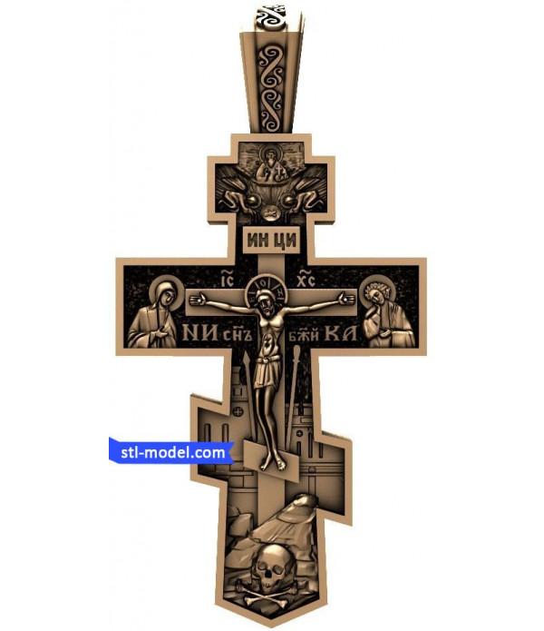 "Cross ""Crucifixion #7"" | STL - 3D model for CNC"