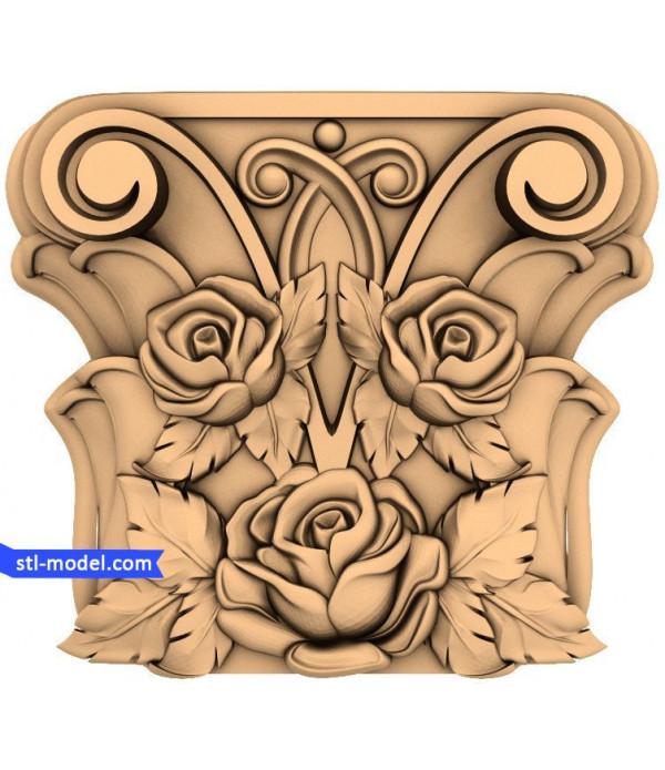 "Chapiter ""Chapiter #1"" | STL - 3D model for CNC"