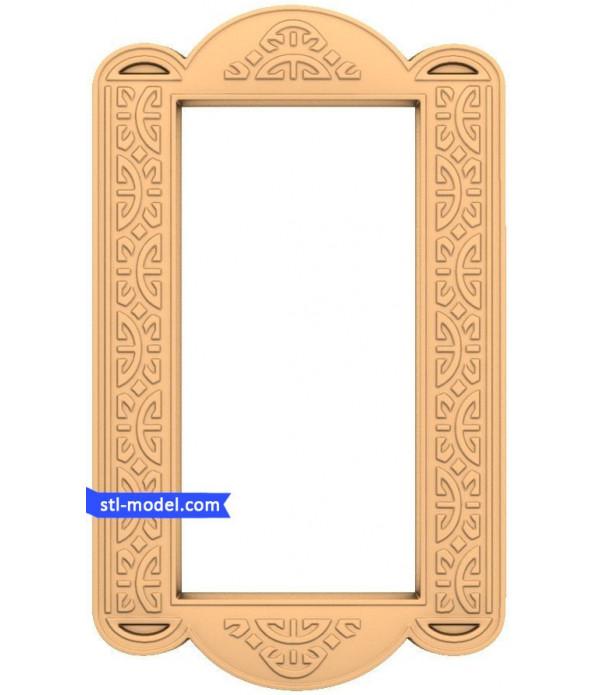 "Frame ""Frame #24"" | STL - 3D model for CNC"