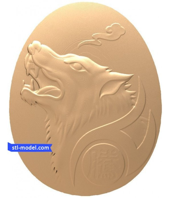 """Bas-relief """"Wolf"""" 